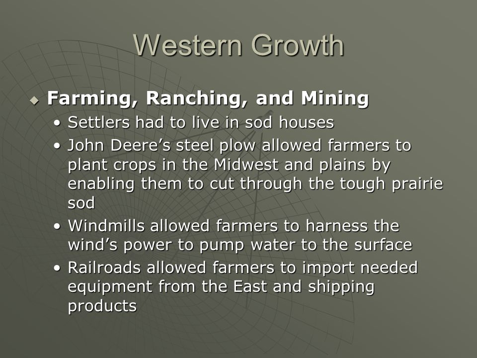 Western Growth Farming, Ranching, and Mining