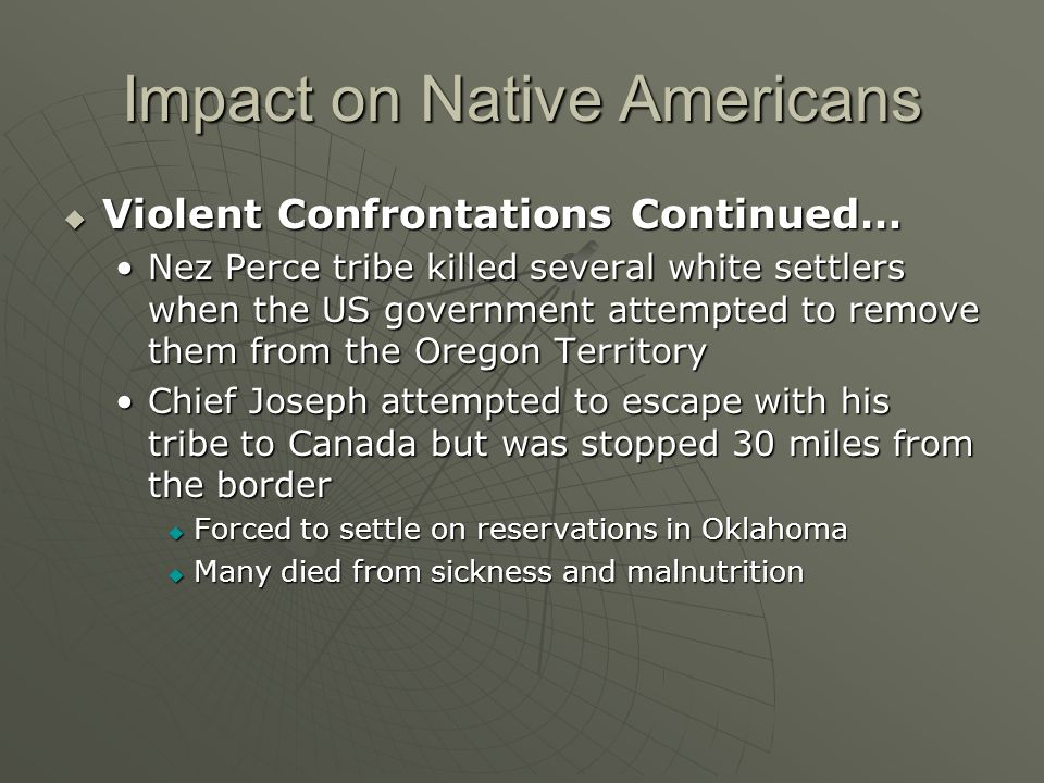 Impact on Native Americans