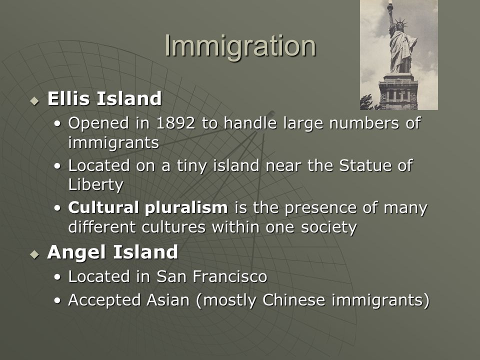 Immigration Ellis Island Angel Island