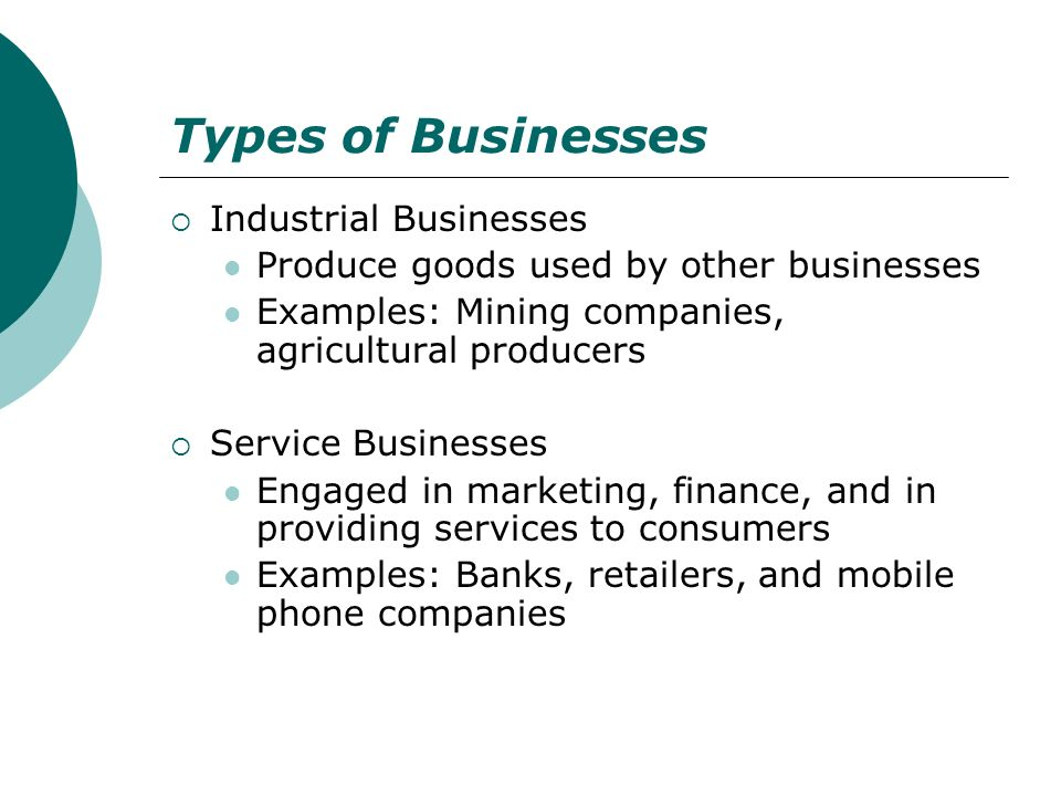 Types of Businesses Industrial Businesses
