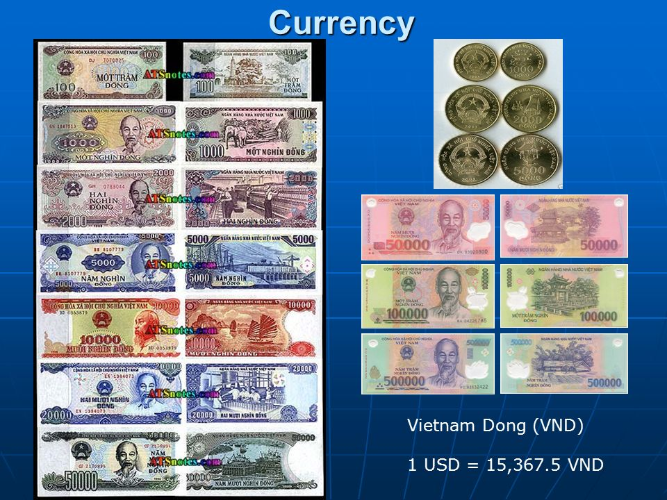 5 Currency Vietnam Dong Vnd 1 Usd 15 367