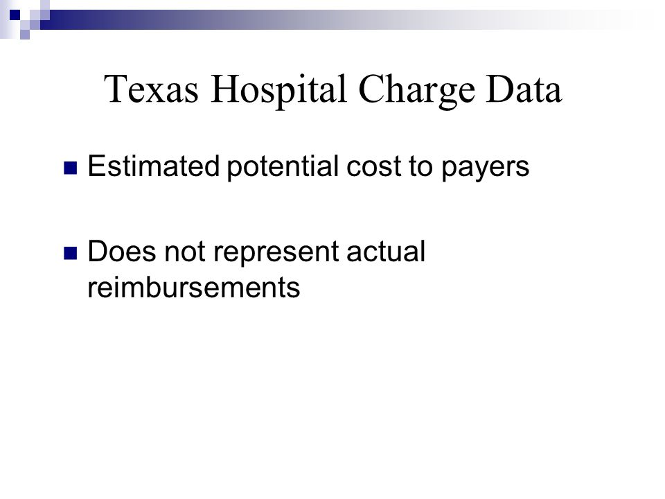 Texas Hospital Charge Data