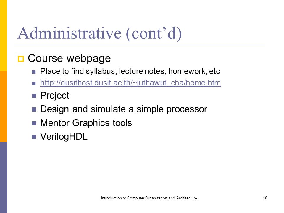 Introduction To Computer Organization And Architecture Ppt Video Online Download