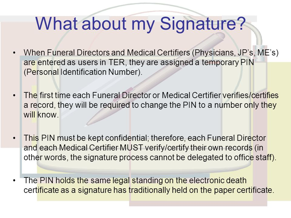 electronic death registration - ppt  online download