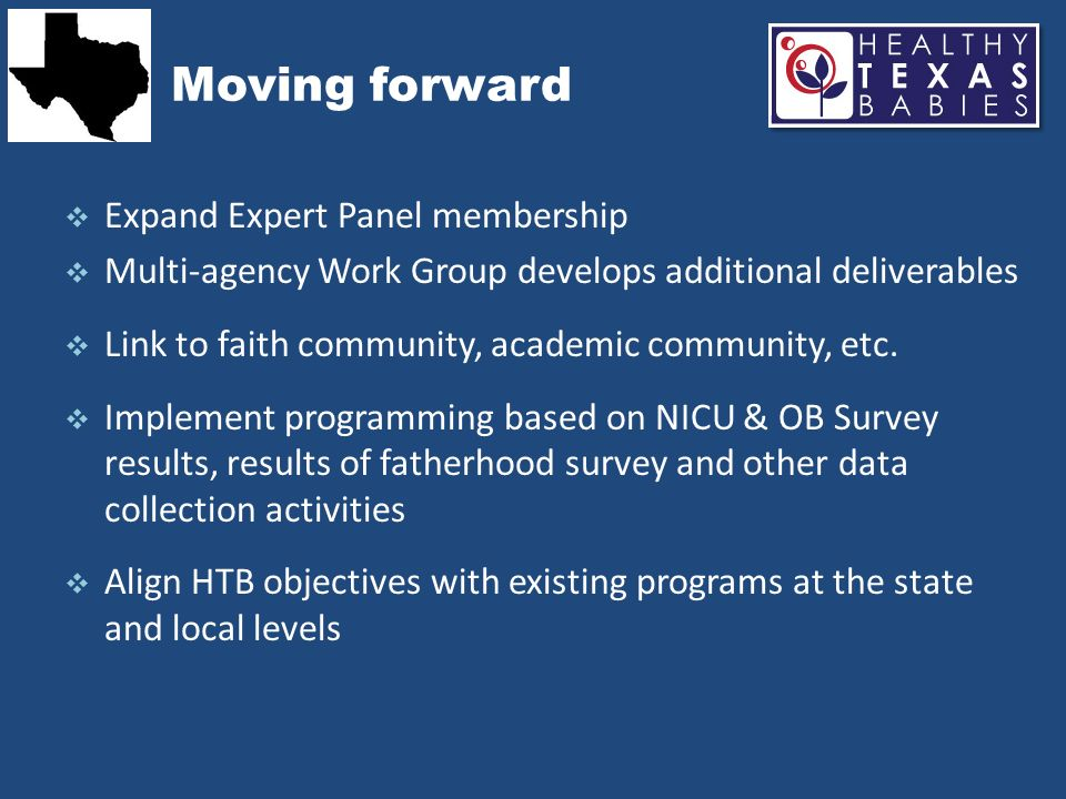 Moving forward Expand Expert Panel membership