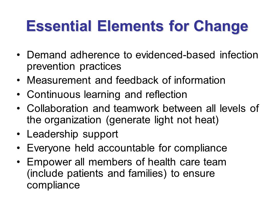 Essential Elements for Change