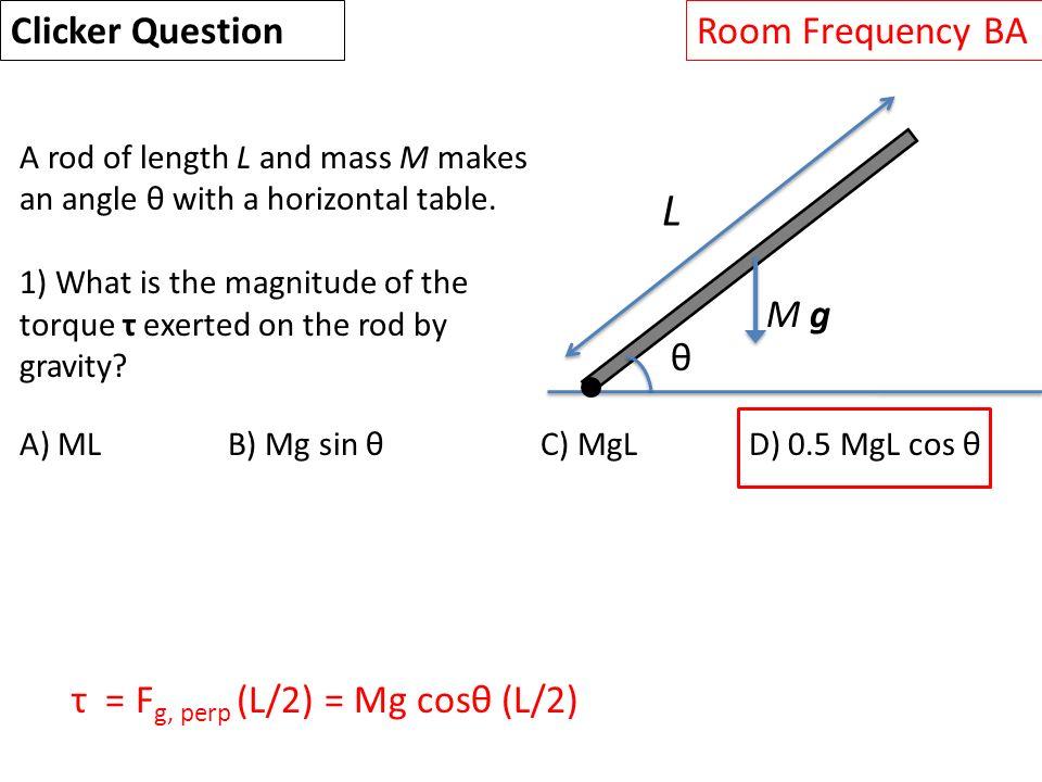Mgl 7 L Rotational Dynamics Angle Of Rotation Rads Angular Velocity Rad S