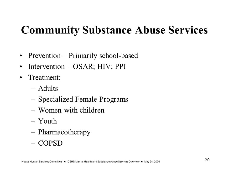 Community Substance Abuse Services