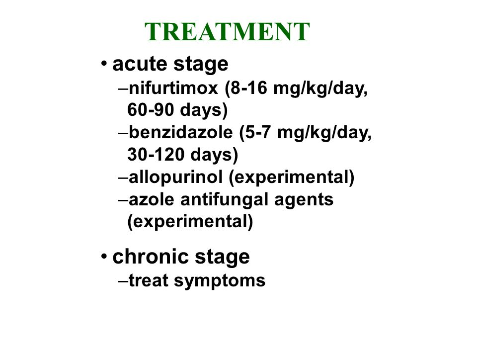 TREATMENT acute stage chronic stage