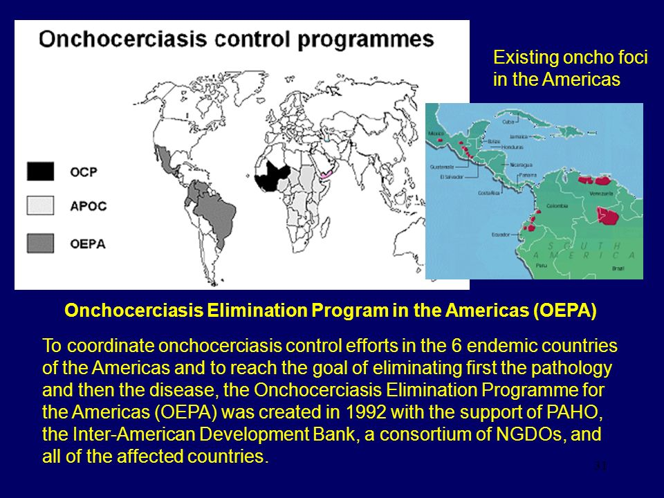 Onchocerciasis Elimination Program in the Americas (OEPA)