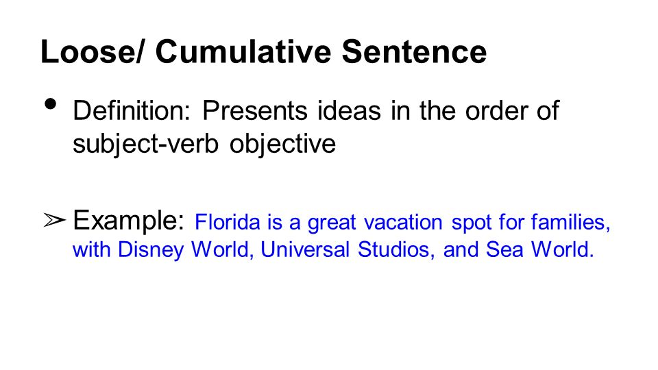 Cumulative sentence example choice image resume cover letter.