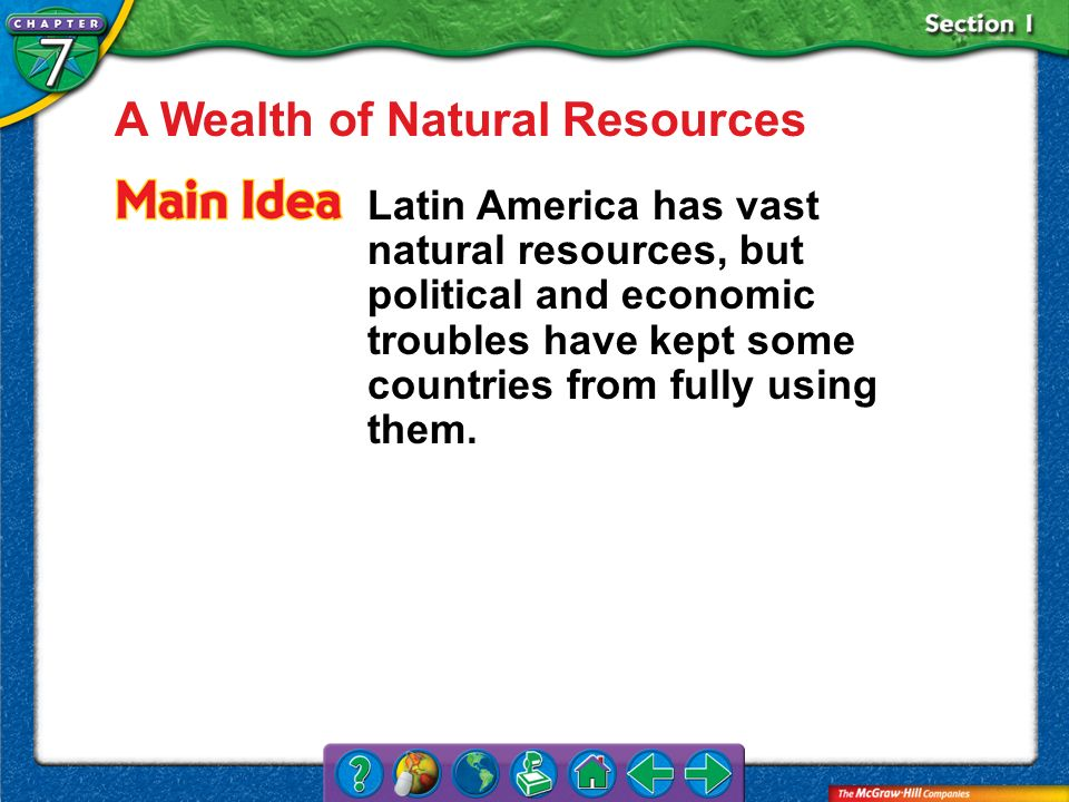 A Wealth of Natural Resources