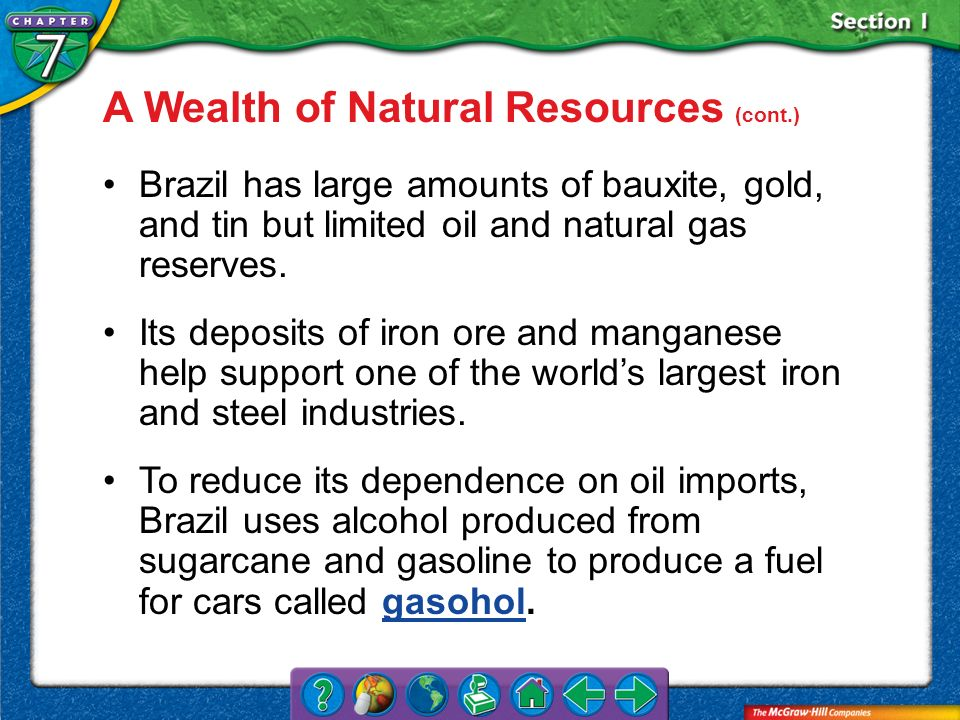 A Wealth of Natural Resources (cont.)
