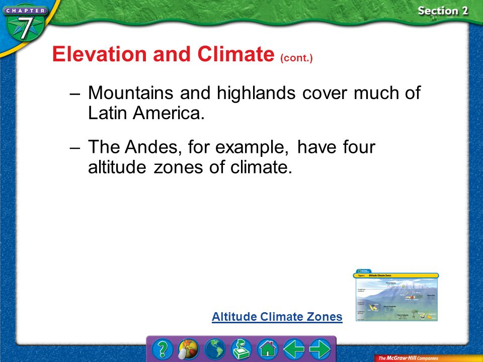 Elevation and Climate (cont.)