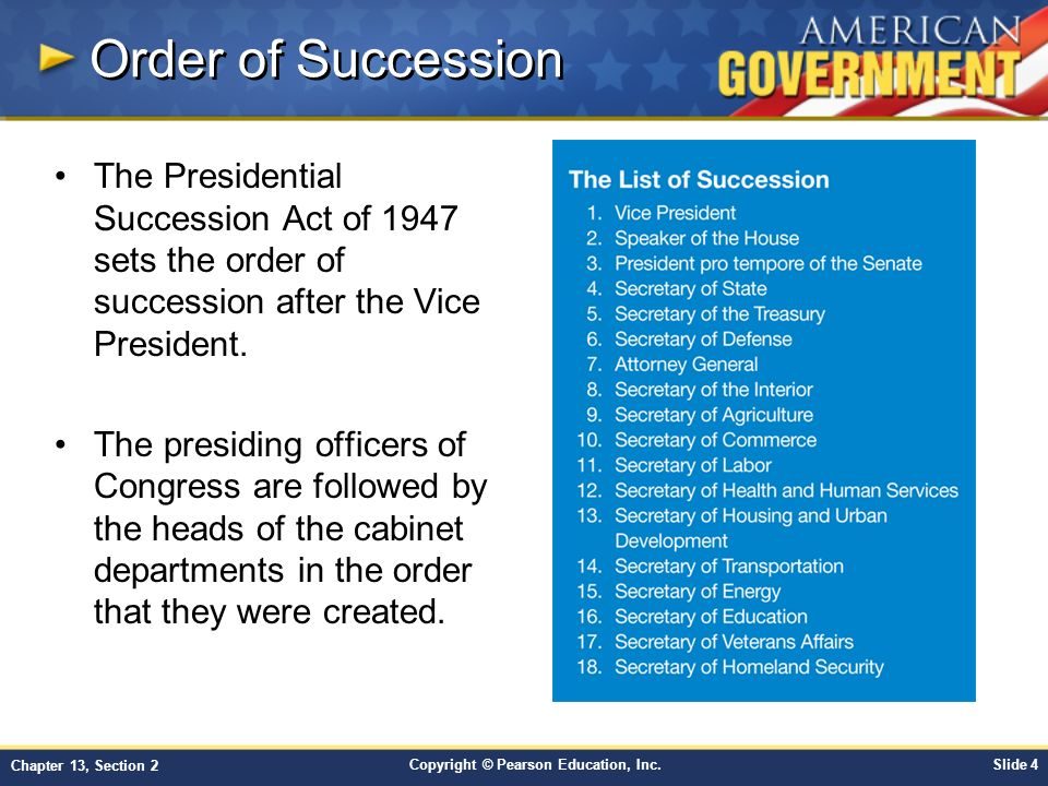 understanding the process of presidential succession in the us Succession in the presidency  understanding how the lord  how does the conferring of priesthood keys at the time a new apostle is ordained begin the process of.