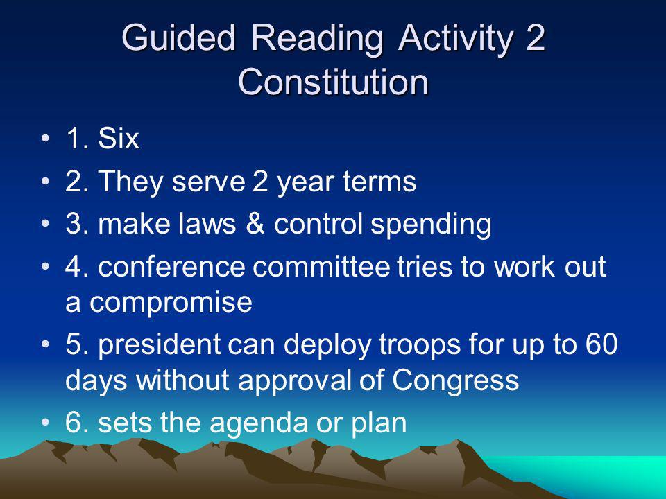Guided Reading Activity 2 Constitution