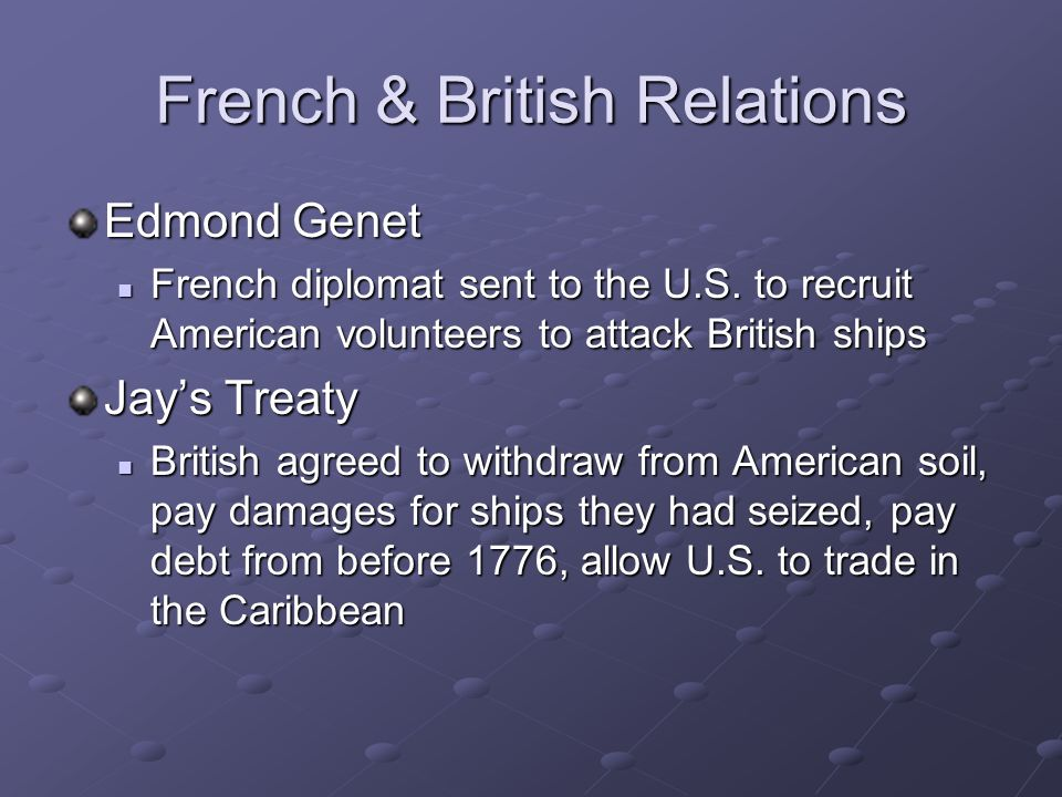 French & British Relations