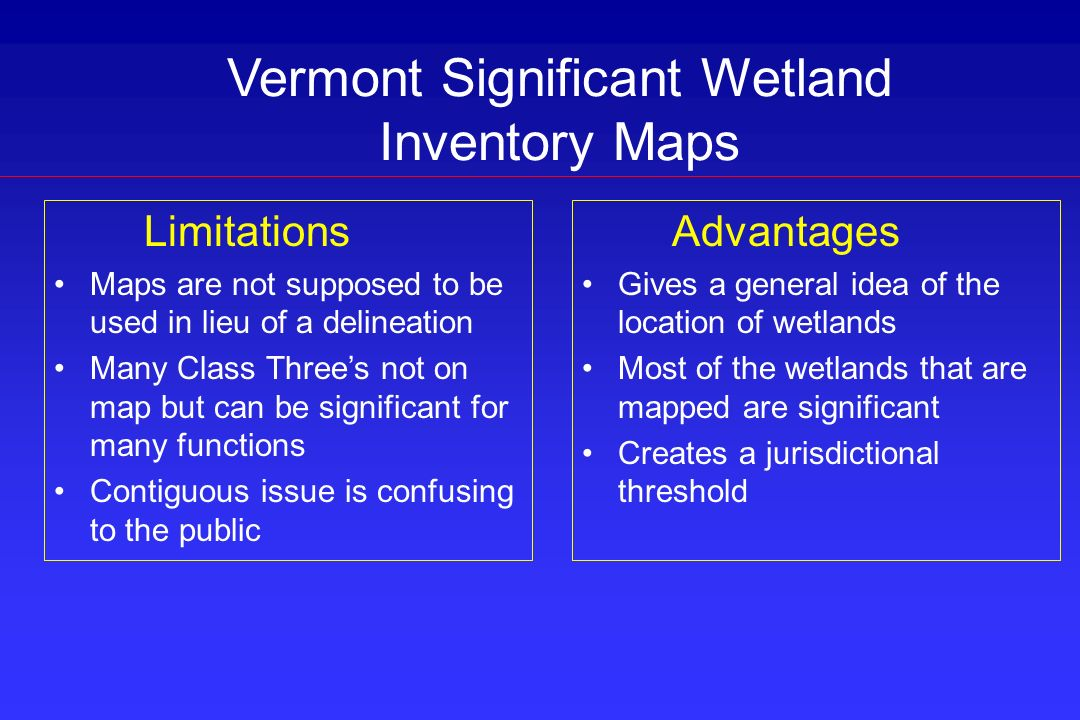 Vermont Significant Wetland Inventory Maps