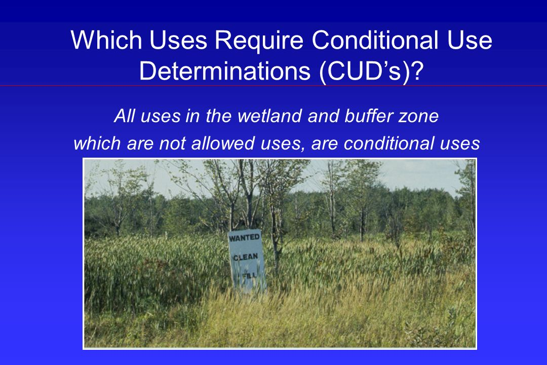 Which Uses Require Conditional Use Determinations (CUD's)