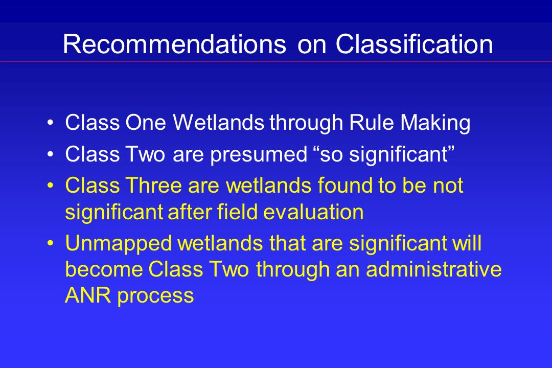 Recommendations on Classification