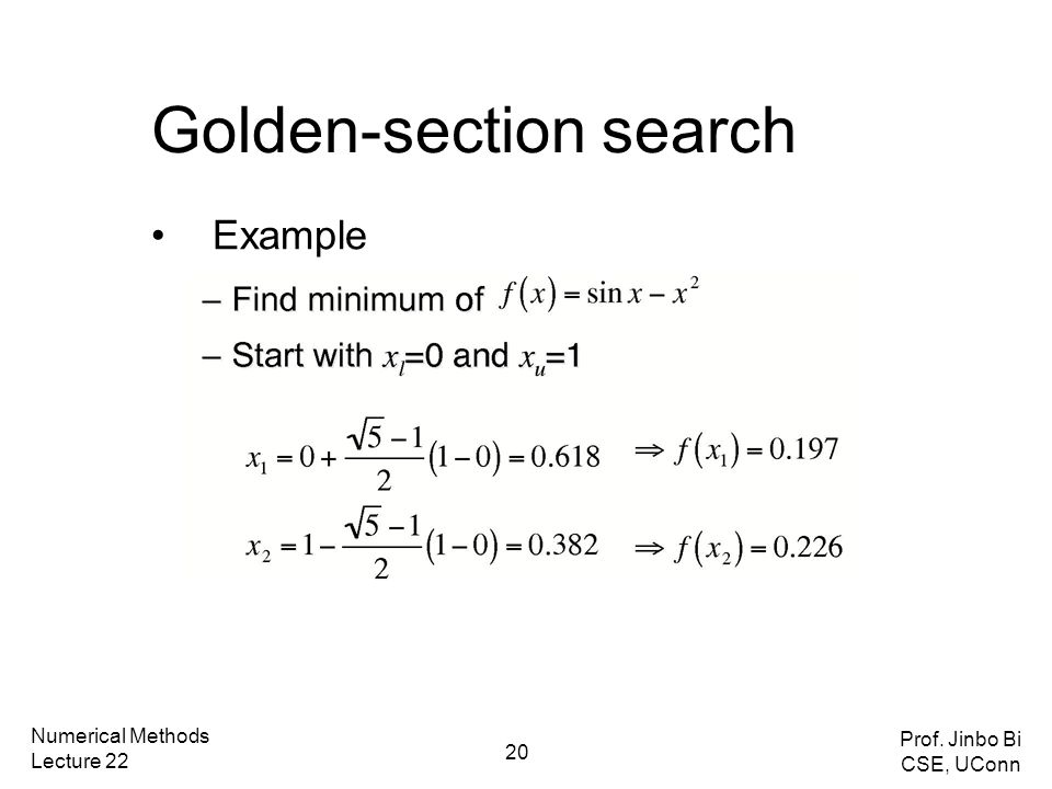 Review taylor series and error analysis roots of equations ppt 20 golden section search publicscrutiny Images