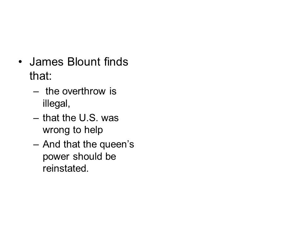 James Blount finds that: