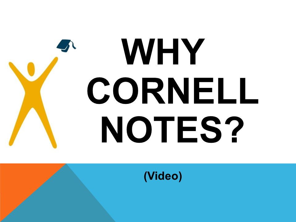 WHY CORNELL NOTES (Video)