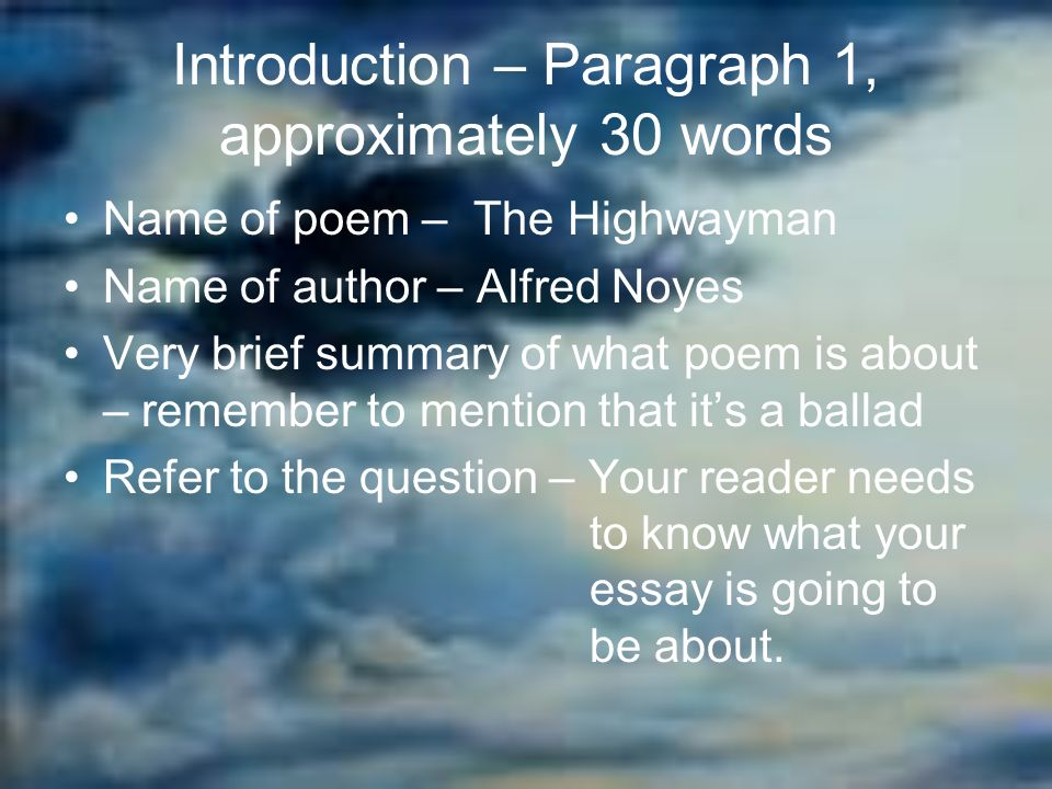 30 words paragraph