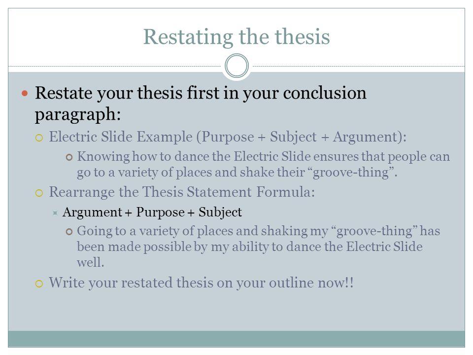 Conclusion Paragraphs - Ppt Video Online Download