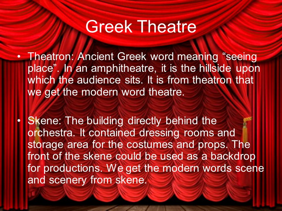 Theater Chapter 5 The Dawn Of Western Theatre