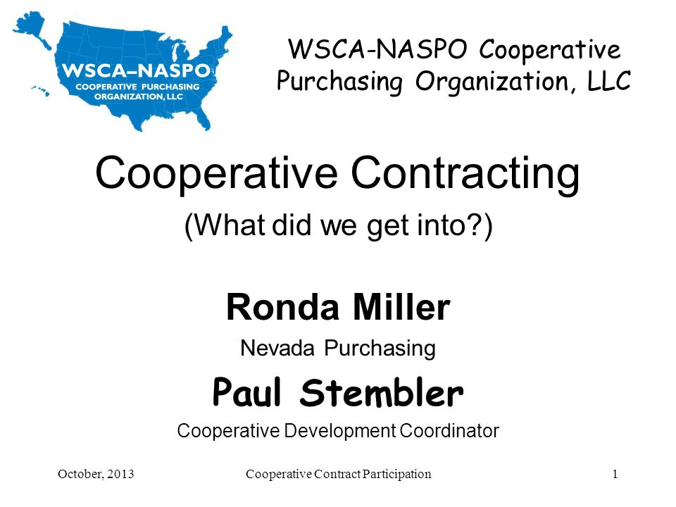WSCA-NASPO Cooperative Purchasing Organization, LLC