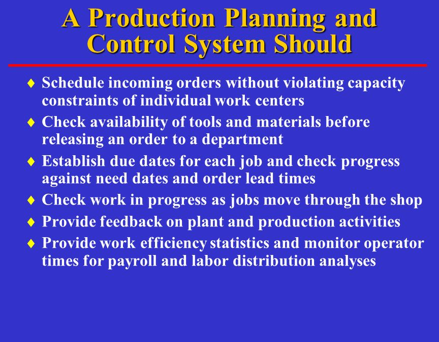 Operations Management Short-Term Scheduling - ppt video