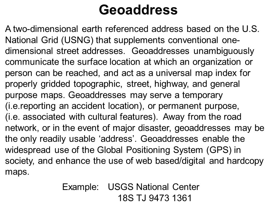 Geoaddress
