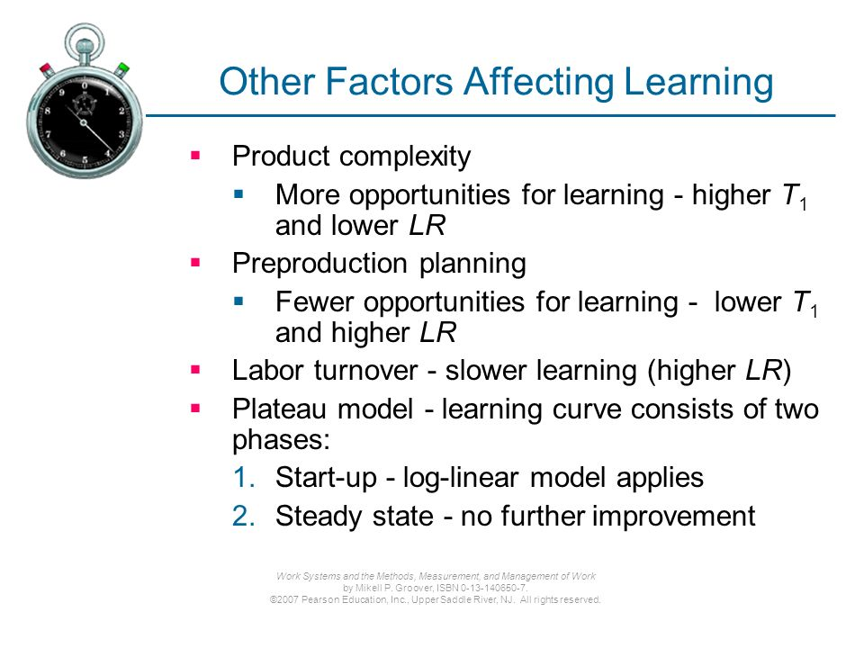 Learning Curves Chapter 19 Sections: Learning Curve Theory - ppt
