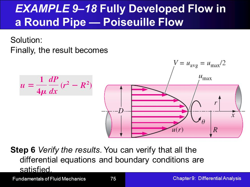 Chapter 9: Differential Analysis of Fluid Flow - ppt video