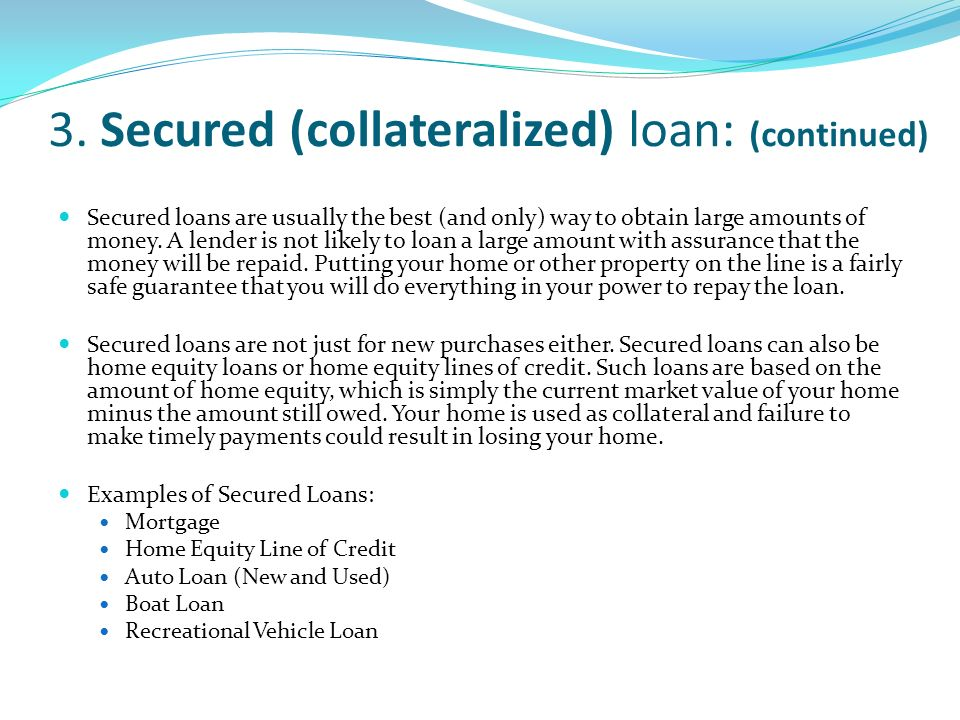 Outline Loans Ppt Download