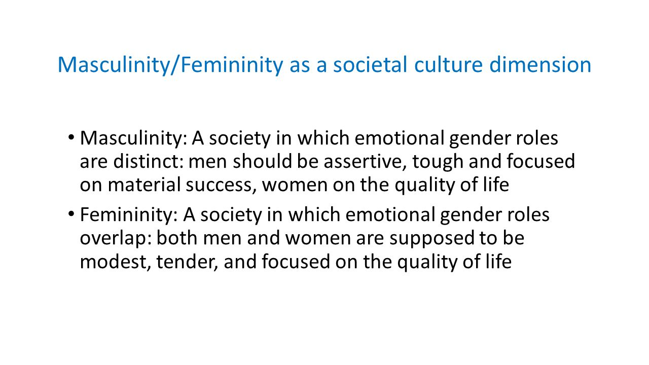 Masculinity/Femininity in 10 minutes - ppt video online download