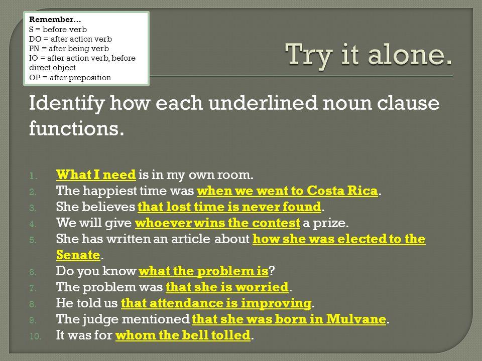 identifying noun clauses
