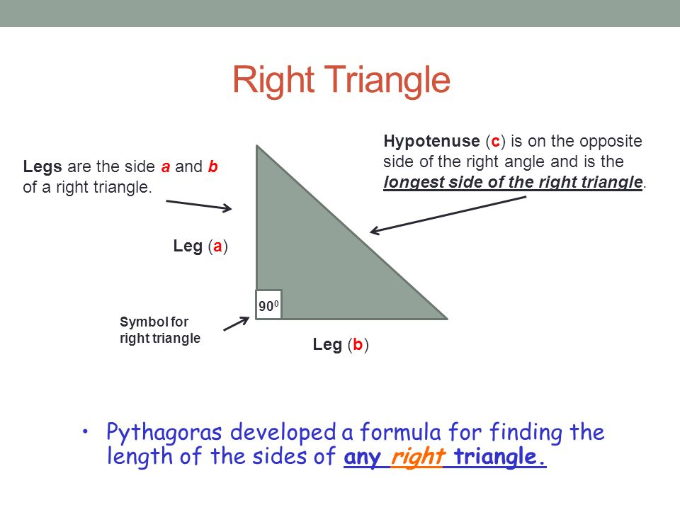 Pythagorean Theorem 8th Math Presented By Mr Laws Ppt Video