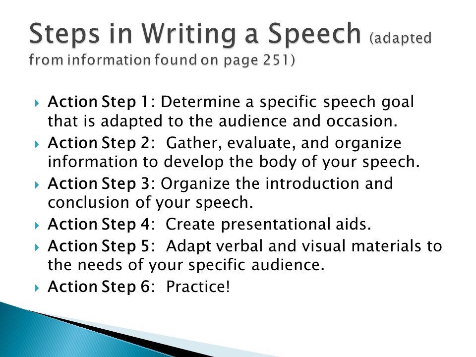 steps in writing a speech