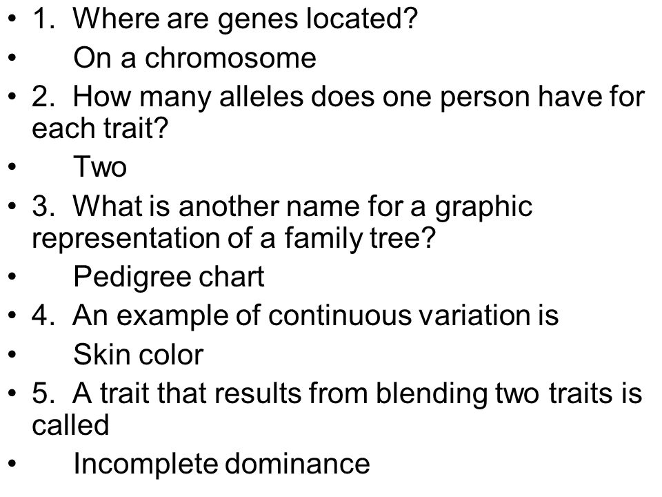 1. Where are genes located