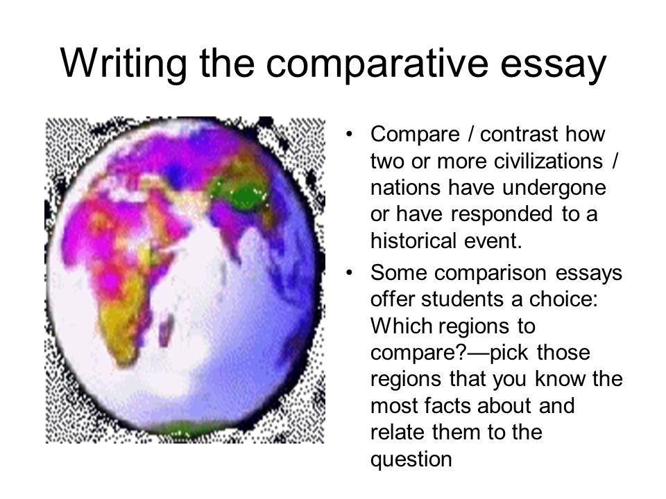 Wonder Of Science Essay Writing The Comparative Essay Types Of English Essays also Narrative Essay Topics For High School Students Writing The Comparative Essay  Ppt Video Online Download Essay On How To Start A Business