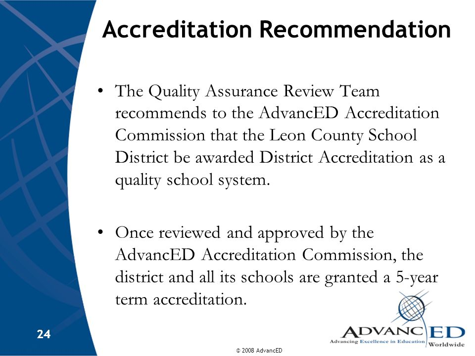 Accreditation Recommendation
