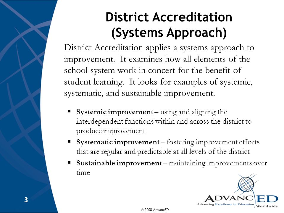 District Accreditation (Systems Approach)