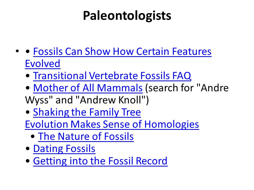 Paleontologists