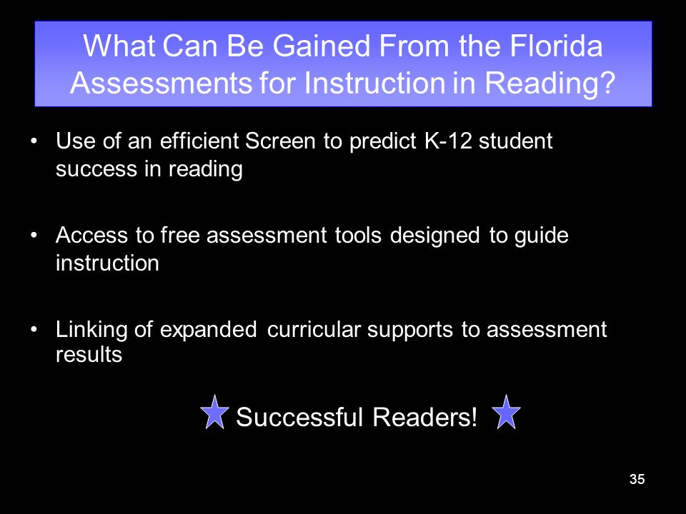 What Can Be Gained From the Florida Assessments for Instruction in Reading