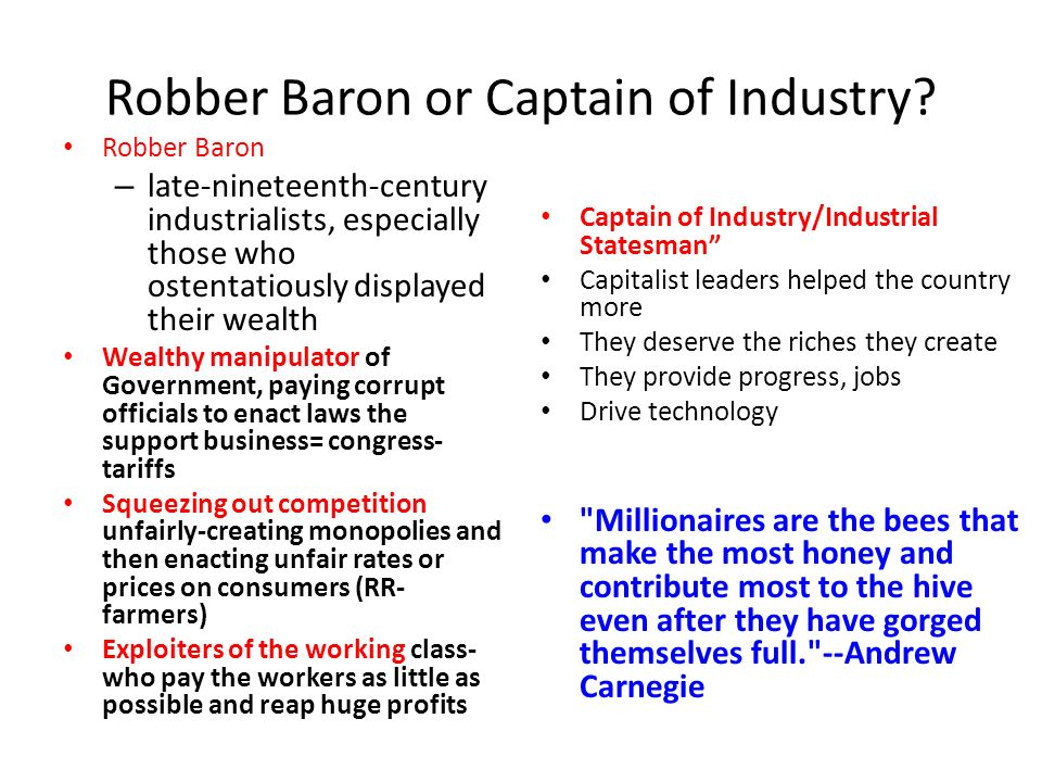 robber barons vs captains of industry