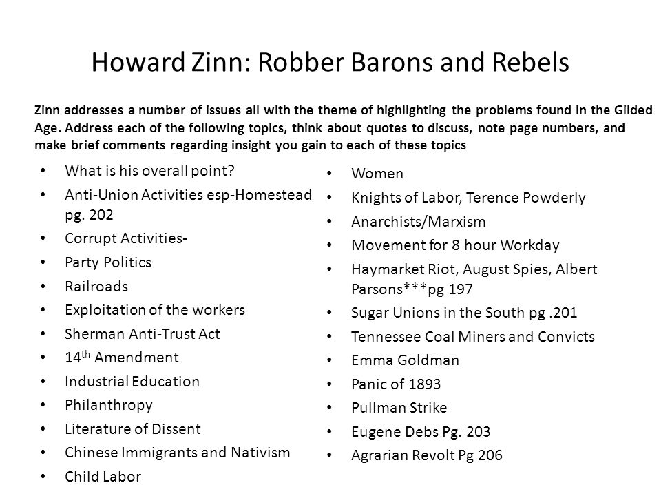 robber barons and rebels questions and answers
