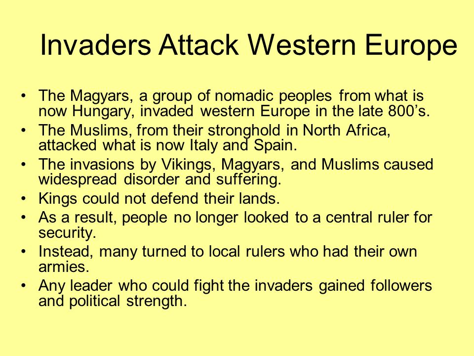Invaders Attack Western Europe