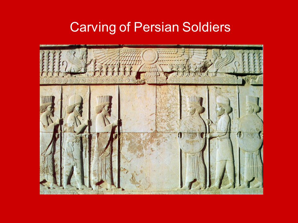 Carving of Persian Soldiers